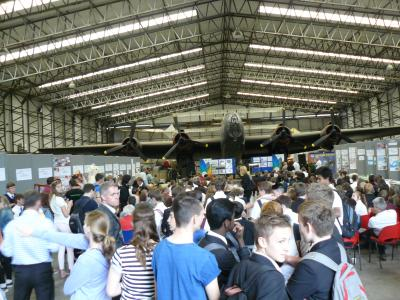 Waiting for the results of the competition in the T2 hangar at Elvington