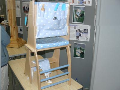 Amy Bond's chair/cooking aid, Overall Winner, Engineering Inspirations 2011